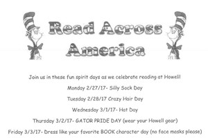 Read Across America week of activities at Dorothy Howell