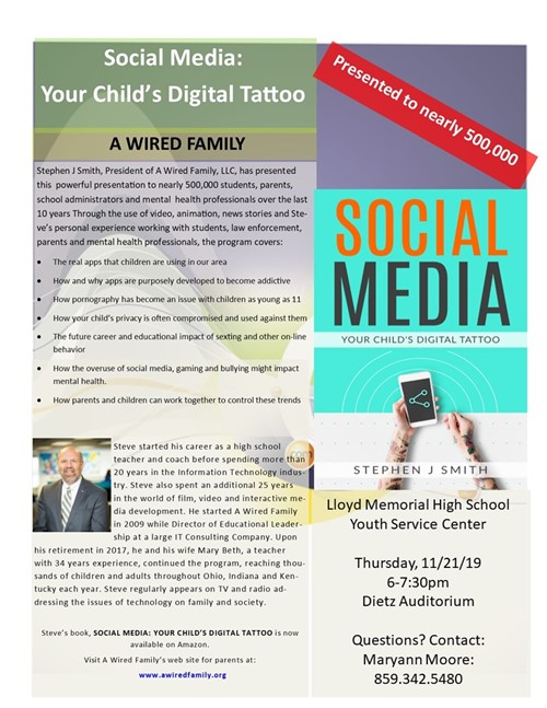 Social Media:  Your Child's Digital Tattoo