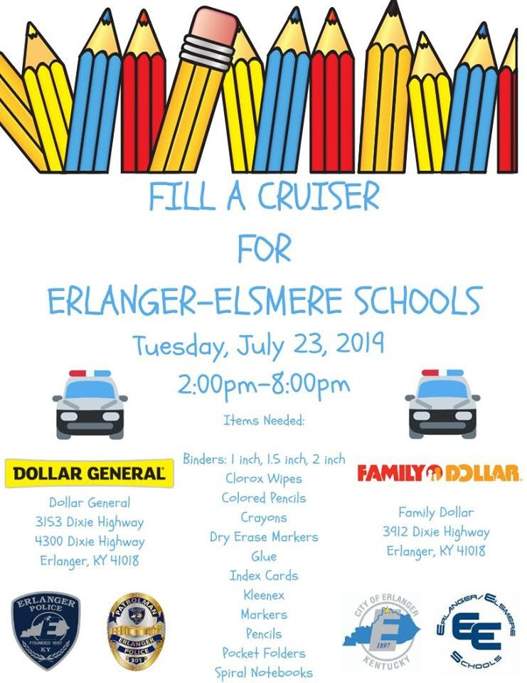 Fill a Cruiser for Erlanger-Elsmere Schools