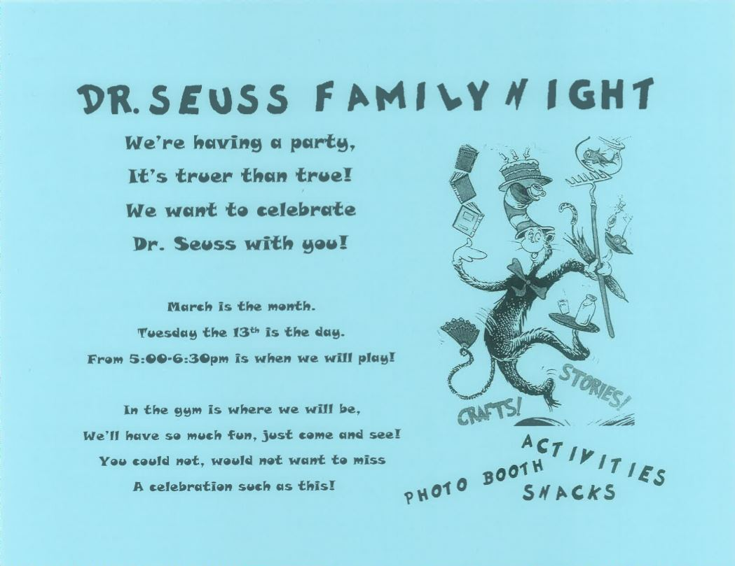 Dr. Seuss Family Night
